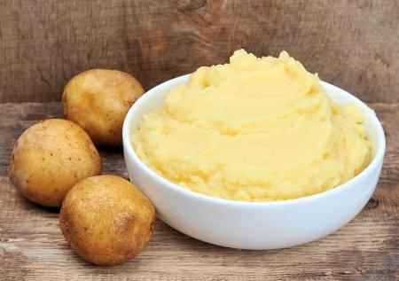 PURE: Patatas Puré de patatas en la casa Foto de archivo