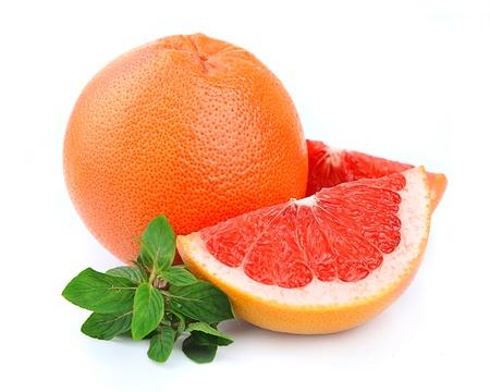 toronja: fruta fresca de pomelo con menta