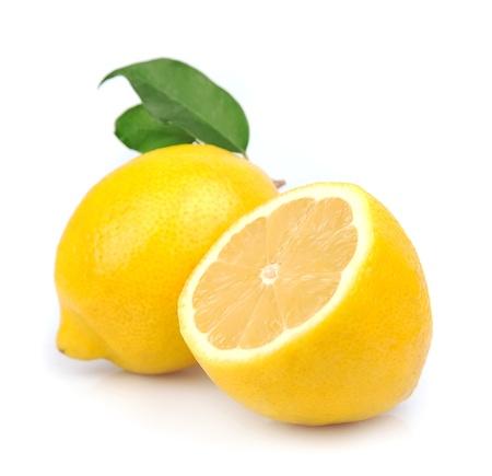 白の葉でレモン