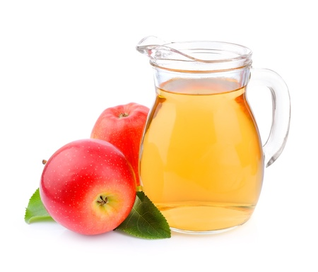 Apple juice on white background   Drink Stock Photo