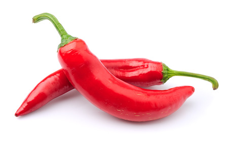 Chili pepper on white background