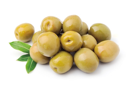 sickly: Sweet olives with leaves close up