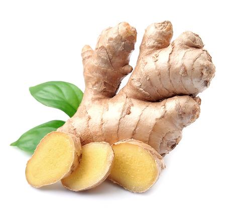 Ginger root in geïsoleerde witte achtergrond Stockfoto - 52234678