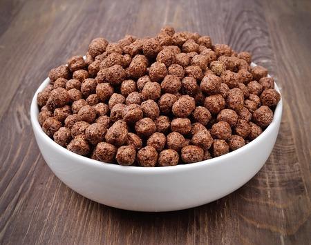 chocolate balls: Chocolate flakes. Chocolate balls. Breakfast