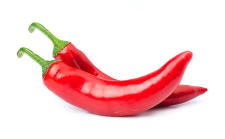 Chili pepper on white background