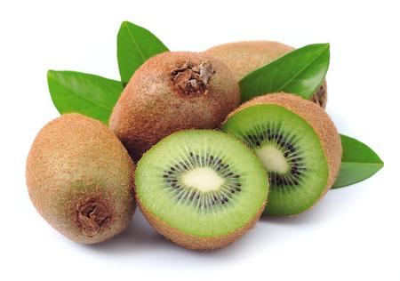 Sweet kiwi's op een witte achtergrond Stockfoto