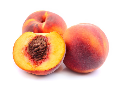 Peach close up on a white background Stock Photo