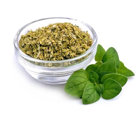 Dried spice of oregano herbs.