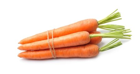Carrots root isolated on white backgrounds Stock Photo