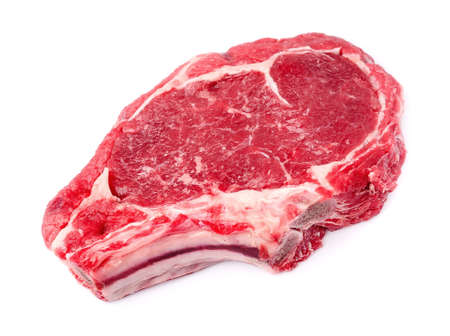 Crude meat on a white backgrounds Stock Photo