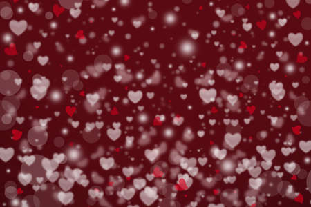 Heart shape with bokeh effect as background. Valentine's day concept.