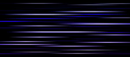 Blurry glowing blue and white stripes in motion on a black background. Abstract composition. Banque d'images