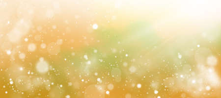 Soft colored abstract summer or autumn background. Bokeh on a yellow blurred background. Banque d'images