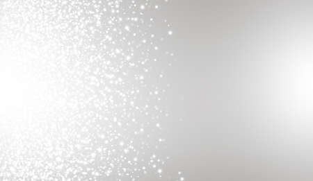 White glitter texture on gray background. Explosion of white confetti. Suitable for wedding invitations, posters, Christmas and greeting cards.