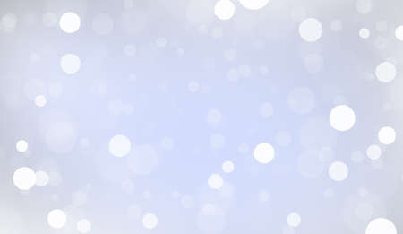 Abstract white bokeh on blue background, background design in sky blue color, sparkles and shimmery background in the shape of a circle. Defocused lights on a blue background.