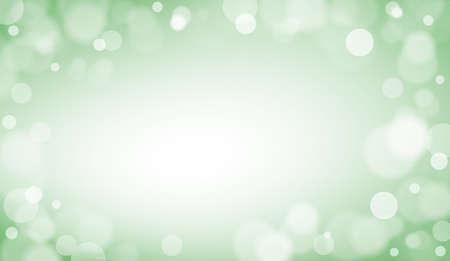 Bokeh green background defocused with copy space illustration. Abstract green bokeh background Banque d'images