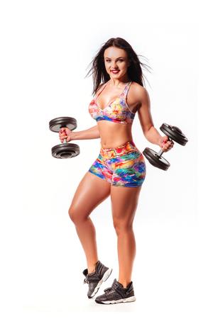 slim sporty fitness woman Imagens