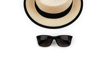 sunprotection objects sunglasses and hat.