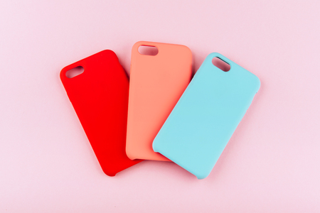 Set of colored silicone covers for smart phone