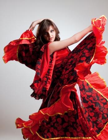 gitana: flamenco, disparo de estudio Foto de archivo