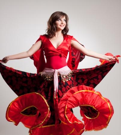 gitana: el flamenco, estudio de disparo Foto de archivo