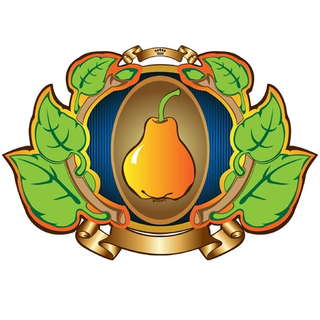 pear lable background advertsing fruit