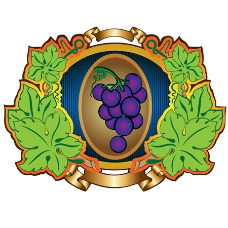 grape label background Stock Vector - 16727493