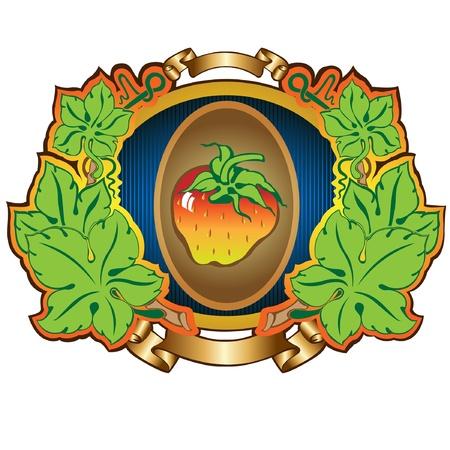 strawberry label background