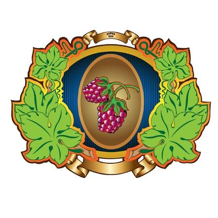 raspberry label background Illustration