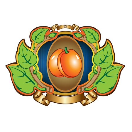 apricot label background