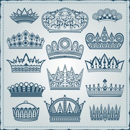 royal  silhouette crown Illustration