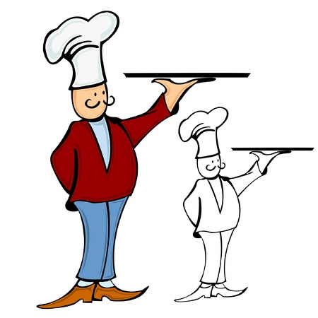 waiter chef cook color