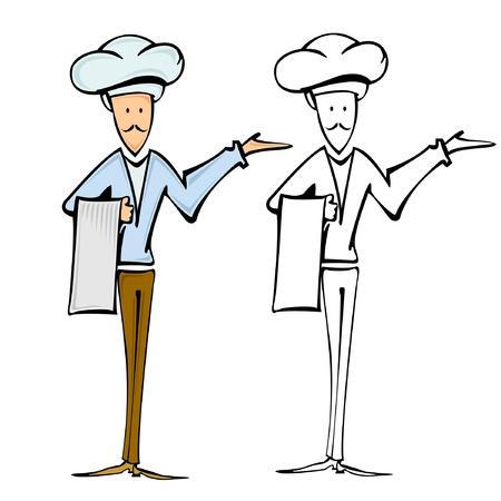 waiter chef cook Vettoriali