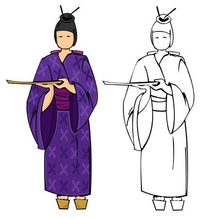 japan cloth woman sushi geisha
