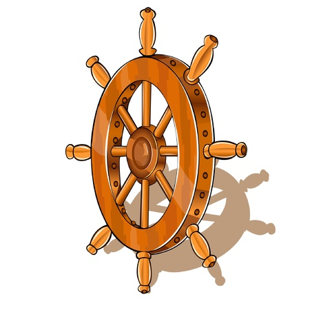 barco pirata: barco de rueda Vectores