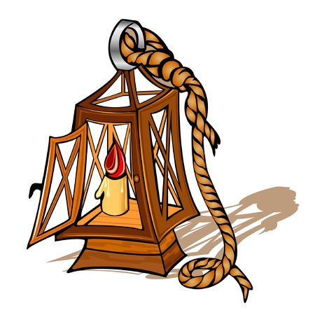 old ship lamp Vector