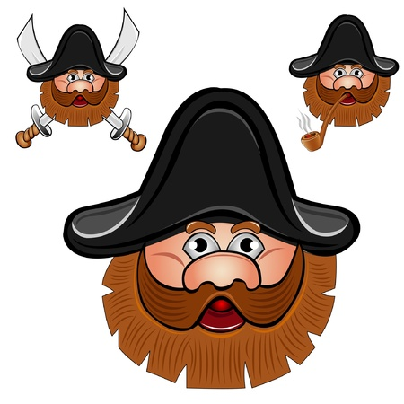 sailor pirate head Vector
