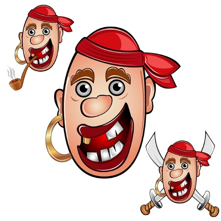pirate head sailor Stock Vector - 16727590