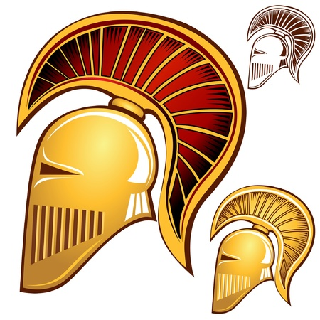 rome gladiator helmet Stock Vector - 16727588