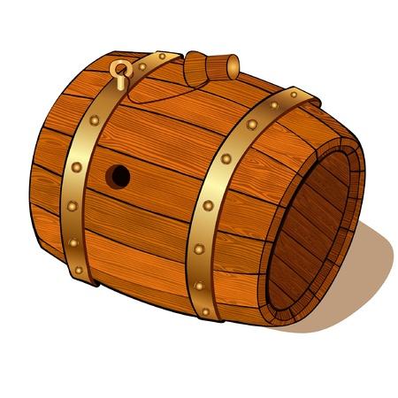 wood  beer barrel Stock Vector - 16727571