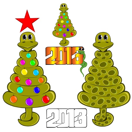 snake new year tree Stock Vector - 16727579