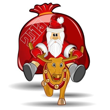 new year santa Stock Vector - 16727586