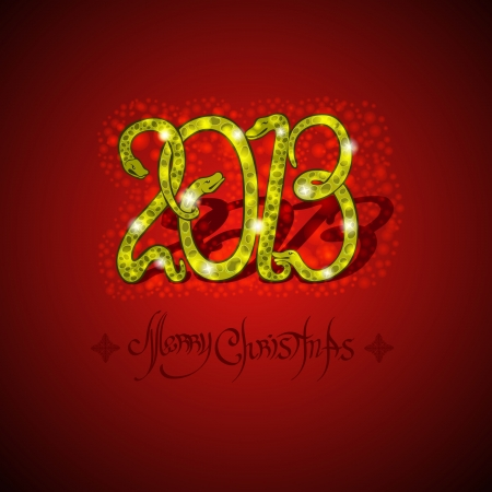 new year background christmas snake Stock Vector - 18181203