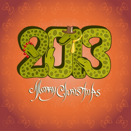 snake background christma Stock Vector - 18181219