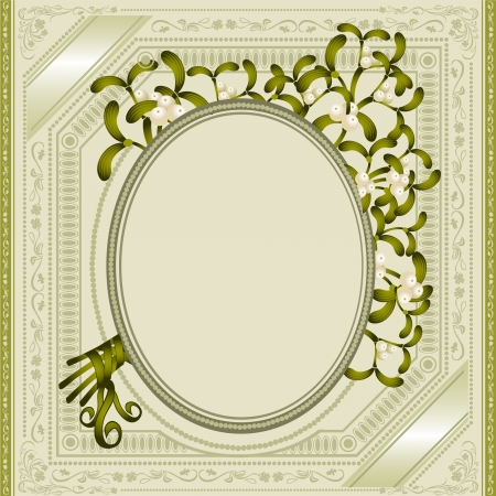 vintage background mistletoe Stock Vector - 18181229