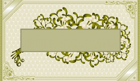 vintage frame old background mistletoe Stock Vector - 18181189