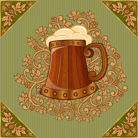 background beer mug Stock Vector - 18181208