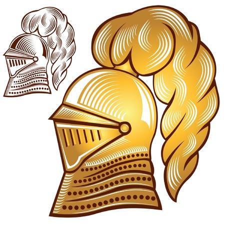 night golden helmet with silhouette copy