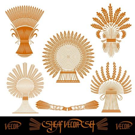 sheaf: cinco silhouetes gavilla de trigo
