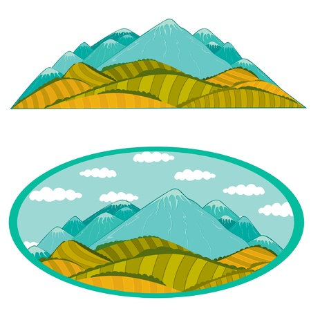 mountains with medow Stock Vector - 18181216